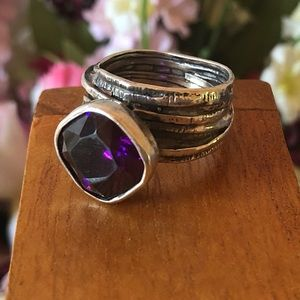 "Silpada .925 Sterling Silver ""Gladiator Glam"" Ring"